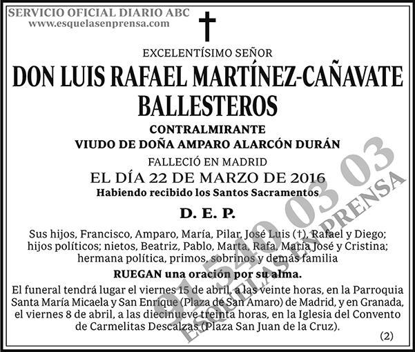 Luis Rafael Martínez-Cañavate Ballesteros